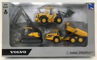 Volvo Construction Dump Excavator Loader Playset New-Ray Diecast