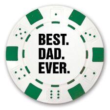 3 Best Dad Ever Logo Custom Green Poker Chips Novelty Item