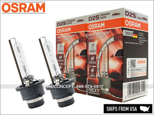 New Gen! OSRAM Xenarc D2S Night Breaker LASER HID Xenon Bulbs +200% 66240XNL SET