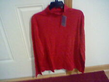 BRAND NEW WOMEN'S SIZE MEDIUM LAURA SCOTT MOCK NECK BLOUSE