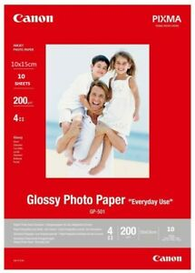Canon Pixima GP-501 Everyday Use Glossy Inkjet Photo Paper 10 Sheets 10x15cm