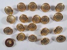 Knopf Knöpfe 20  stück  gold  knöpfe 13  mm groß #780#