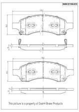 Disc Brake Pad Set-Ceramic Pads Front Pronto PCD1169A