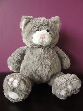 "8th Wonder Grey Beanie Cat Soft Toy 15"""