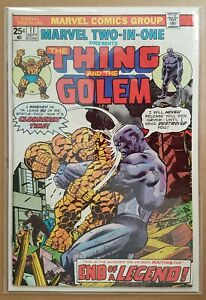 MARVEL _ MARVEL TWO-IN-ONE _ # 11 _ VFN _ 1975 _ CENTS COPY _ THE GOLEM _