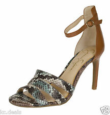 JESSICA SIMPSON MASELLI EARTH BROWN OPEN TOE ANKLE STRAP SANDAL MULTISIZE AS