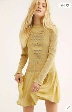 NEW Free People Pirouette Lace Dress SIZE XS Yellow