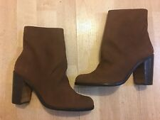 NEW Django & Juliette Suede Ankle Boots with Zip -Brown - Size 37 - RRP$199.95