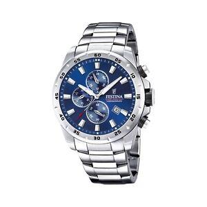 Festina F20463-2 Men's Chronograph Blue Dial Silver Tone Bracelet Wristwatch