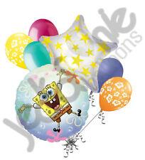 7 pc Spongebob Squarepants See Thru Balloon Bouquet Birthday Party Decoration