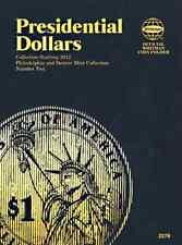Whitman Presidential Dollars 2012 Blue Push Coin Book 2276 Vol. 2 Folder
