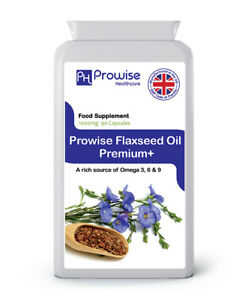 Flaxseed Oil 1000mg 90 Capsules by Prowise