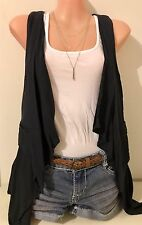 TOPSHOP Vest Navy Size 10 New Without Tags | Boho Festival Casual Top
