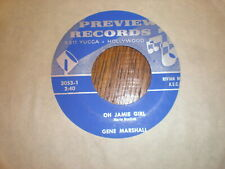 Gene Marshall 45 Oh Jamie Girl PREVIEW RECORDS