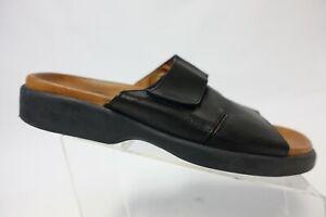 TOMMY BAHAMA Leather Black Sz 10 M Women Slide Sandals