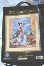 Dimensions Gold Collection cross stitch kit - Magnolia Serenade threads & chart