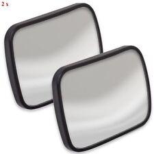 2 X ADJUSTABLE BLIND SPOT MIRRORS ANGLE MIRROR CAR VAN TOWING REVERSING