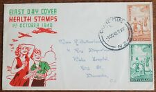 New Zealand – Early Health Set on FDC – 1940 RARE (Se9)