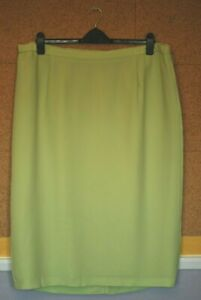 Ladies Lime Green Lined Skirt size 24 Ann Harvey Ex Cond
