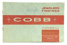 1959 COBB Jewelry Findings Ordering Catalog No 959R Reprint 8.25in I924