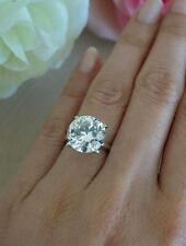 CERTIFIED VERY BIG 5.33 CARAT REAL DIAMOND SOLITAIRE ENGAGEMENT RING IN PLATINUM