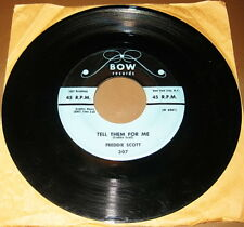 DEEP SOUL - FREDDIE SCOTT - TELL THEM FOR ME - BOW RECORDS 1ST PRESS STOCK COPY