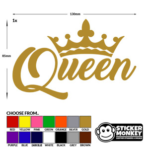 QUEEN CROWN Gold Funny Car,Window,Bumper or Laptop DUB DRIFT Vinyl Decal Sticker