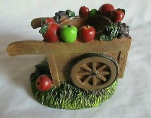 Yankee Candle Resin Apple Cart Fruit Wagon Tea Light Holder