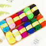 12pcs DIY Yarn Wool Lot Knitting Crochet Granny Squares Craft Toys Bundle