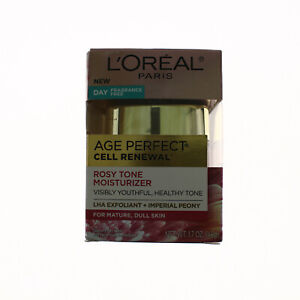 L'Oreal Age Perfect Cell Renewal Rosy Tone Moisturizer Fragrance Free New