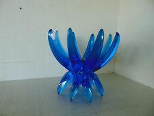 Vintage Candlestick Holder blue Lucite  Friedel Ges Gesch