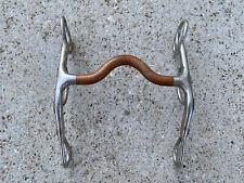 "TRAMMELL Copper Mouth Western Horse Curb Bit ~ 5"""