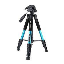 Zomei professionell Stative aus Aluminium Tripod für Canon Nikon Kamera (Blau)