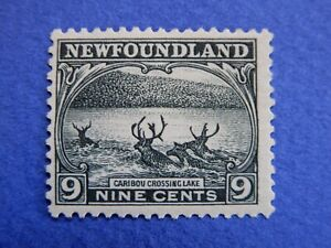 """Newfoundland: #138 MH Pictorial Iss: impressive """"Caribou Crossing""""  CV=$60.00"""