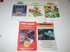 Atari 2600 Instruction Manual Booklets - Lot of 5 Various Titles