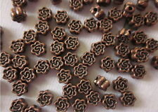 50 Antique Copper 4mm Flower Spacer Beads #sp240 Combine Post-See Listing