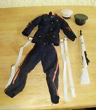 Vintage G.I. JOE Marine Dress with Hats Belts & Gun