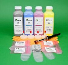 HP CP3505dn CP3505n CP3505x 4-Color Toner Refill Kit w/ Hole-Making Tool & Chips