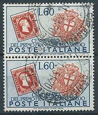 1951 ITALIA USATO SARDEGNA 60 LIRE COPPIA - ED304