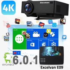 WiFi 4K Full HD 1080P LED Projector Home Theater Bluetooth AV/SD/USB/HDMI 8GB UK