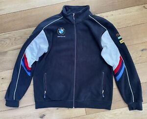 Men's BMW Motorrad Fleece Zip Up Jacket Size XXL Superbike Team Motorbike