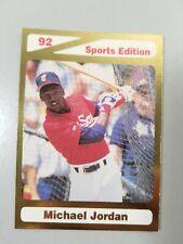 1992 Sports Edition Michael Jordan Baseball Card Limited Edition.  #BC10