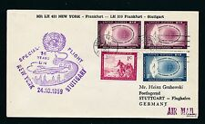 50840) LH UNO So-LP UNO New York - Stuttgart 24.10.59, Brief cover RR!!