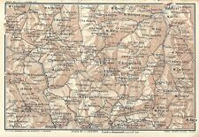 Carta geografica antica VALLE GESSO Alpi Marittime CUNEO 1914 Old antique map