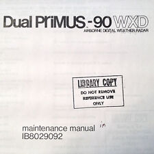 Dual Primus 90 WXD Radar Install manual
