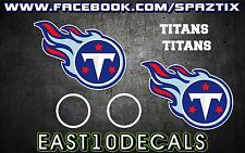 Tennessee Titans Cornhole Decal 6 pc Set Football sticker package