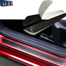 "2x Carbon Fiber Car Scuff Plate Door Sill Panel Protector Guard Cover Trim 19"""