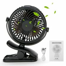 3 Speeds USB Rechargeable Mini Cooling Fan Clip On Desk Table Stroller Portable