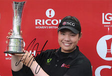 Ariya Jutanugarn, Thai golfer, LPGA Tour, signed 12x8 inch photo. COA.