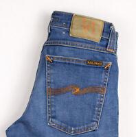 Nudie Jeans Damen Eng Lang John Slim Jeans Stretch Größe W26 L28 ASZ268
